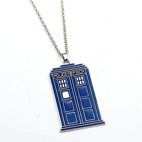 Doctor Who Halskette Tardis Anhänger Mode Link Kette Halsketten & Anhänger Beste Freund Geschenk Frauen Männer Schmuck
