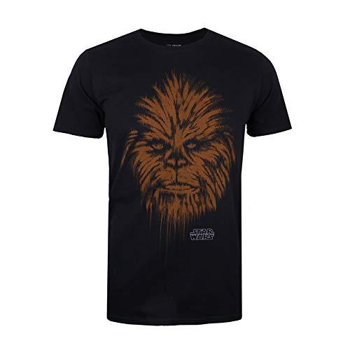 Star Wars Herren Chewbacca Chewie Lines T-Shirt, Schwarz (Black Blk), Medium
