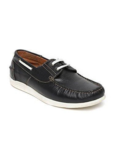 Alberto Torresi Men Navy Leather Boat Shoes