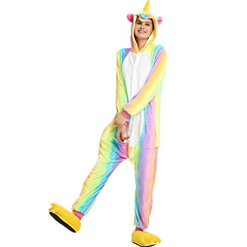 Einhorn Pyjamas Tier Nachtwäsche Nachtwäsche Kostüm Cosplay Weihnachten -