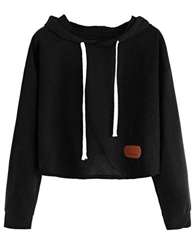Auspicious beginning Damen-langes Hülsen-beiläufiger runder Ansatz-Druck geerntetes Sweatshirt (Kleinkind Jungen Ralph Polos Lauren)
