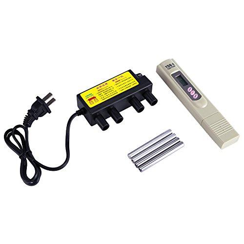 Elektrolytischer Schnelltest zur Überprüfung der Wasserqualität, Elektrolyse-Eisenstangen + digitaler TDS-Tester