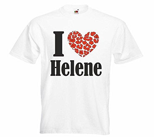 Herren T-Shirt Helene Motiv05 T-Shirt Weiss 4XL