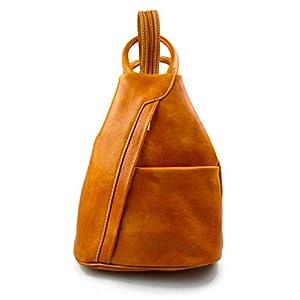 309c03687fb86 Leder rucksack menner damen leder tasche gürteltasche hüfttasche  umhängetasche schultertasche tragetasche ledertasche seitentasche herren  gelb