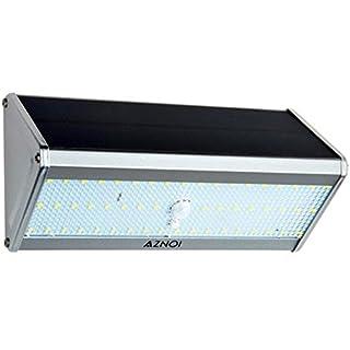 Aznoi 52 LED 3W mit Drucktaste Aluminium Solarleuchte, Wasserdichte IP65 Wandleucht, Sensor Solar Sicherheit solarleuchte für Zaun, Garten,Terrasse, Korridor, Straße Schlaufe, Haus, Außenwand usw.