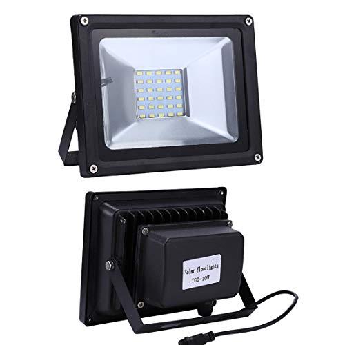 4151TPlL47L - Las luces del paisaje Luz de inundación solar elegante impermeable de TGD 10W 30 LED IP65 con el panel solar teledirigido Fiesta de jardin