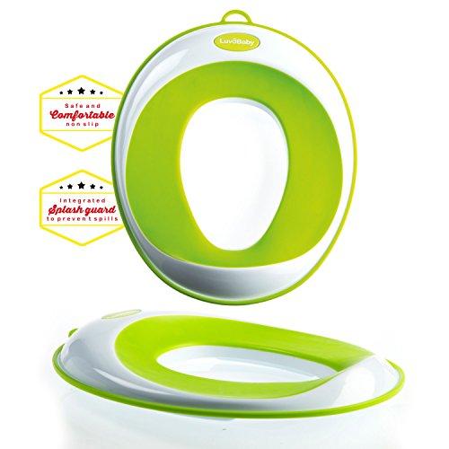 itz - Kinder-Toiletten-Training-Klobrille für Jungen und Mädchen - sichere rutschfeste Oberfläche - UMSONST mitgeliefert: Haken mit Saugnapf zur Aufbewahrung ()