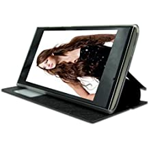 Prevoa ® 丨Doogee DG280 Funda - Flip PU Funda Cover Case para DOOGEE LEO DG280 3G Con 4.5 Pulgadas Android Smartphone - Negro