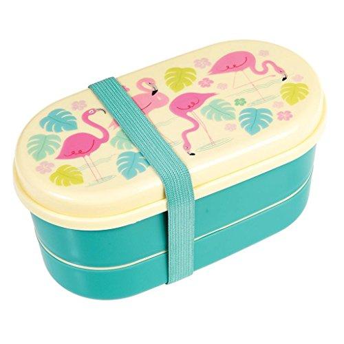 Rex London Boîte Bento avec créatures colorées, choix d'animal (Flamingo Bay)