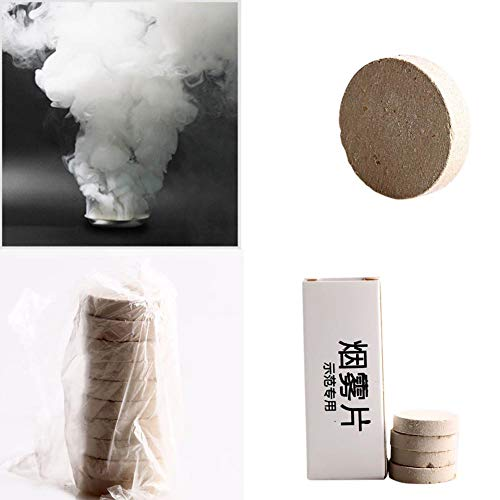 WEISY 10PCS Halloween Props Purifier Demonstration Special Smoke Cake Air Purification Demo Smoke Film Festive Party Supplies