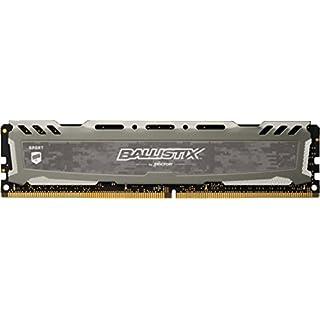 Ballistix Sport LT BLS8G4D240FSBK 8GB Speicher (DDR4, 2400 MT/s, PC4-19200, CL16, Single Rank x8, DIMM, 288-Pin) grau
