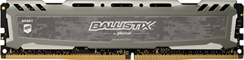 Ballistix Sport LT BLS4G4D240FSB Memoria da 4 GB, DDR4, 2400 MT/s, PC4-19200, Single Rank x8, DIMM, 288-Pin, Grigio