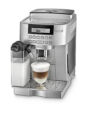 De'Longhi Magnifica S Cappuccino ECAM 22.366.S Kaffeevollautomat (Digitaldisplay, integriertes Milchsystem,