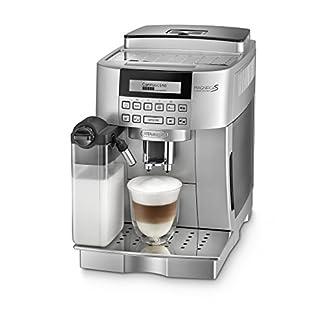 DeLonghi-Magnifica-S-Cappuccino-ECAM-22366S-Kaffeevollautomat-Digitaldisplay-integriertes-Milchsystem-Cappuccino-auf-Knopfdruck-Herausnehmbare-Brhgruppe-2-Tassen-Funktion-silber