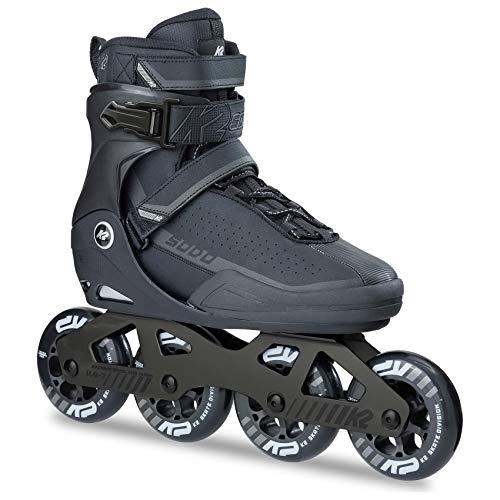 K2 Erwachsene Frauen Männer Fitness Inline Skates Sodo - Schwarz-Grau - EU: 43.5 (US: 10 - UK: 9) - 30B0024.1.1.100