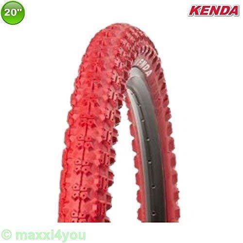 01022009R 1 x Kenda K-51 Fahrrad BMX - Reifen Mantel Decke Rot 20 x 2.25 - 58-406 - Rot-bmx-fahrrad-reifen