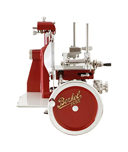 Berkel - Volano Aufschnittmaschine B3 Modell - Rot mit Golddekorationen - Neues Modell 2018