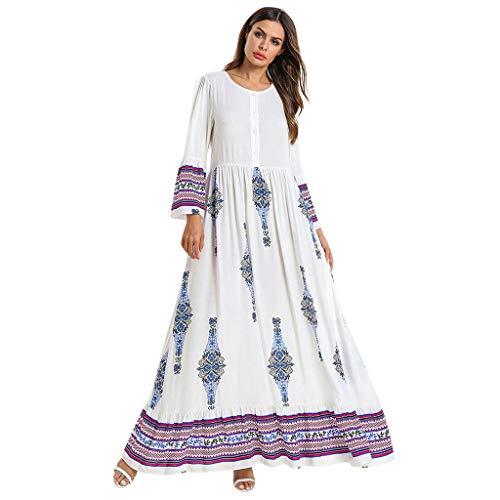 ZEELIY Frauen Muslimische Kleider Feste Schals Arabien Islamische Gebet Kleid Muslimische Kleidung Hijab Kleider Frauen Muslim Bat's-Flügelhülsen Kleid Hijab -