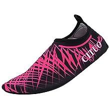 VILISUN Unisex 3 MM Calcetines de Buceo,zapatos de agua de Natación,Escarpines Calzado de Playa Surf,Buceo Surf Calcetines (Rosa, EUR 40-41/US 8.5-10)