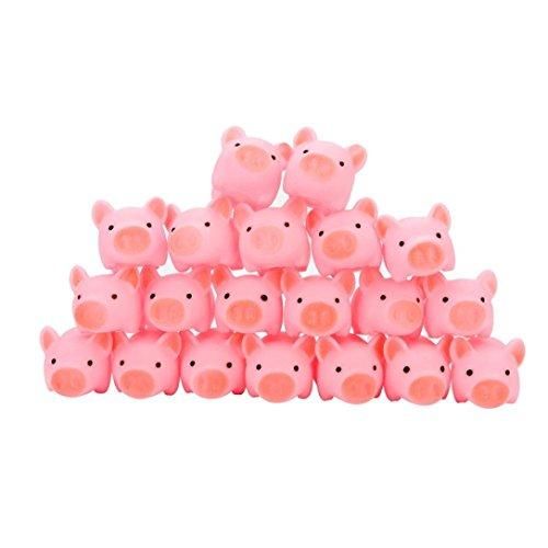 Babyskin 20PCS Gummi Rosa Schwein Baby Bad Spielzeug Squeeze Angst Stressabbau Spielzeug