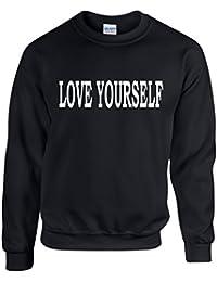 LOVE YOURSELF ~ JUSTIN BIEBER ~ BLACK SWEATSHIRT ~ UNISEX SIZES S - XXL