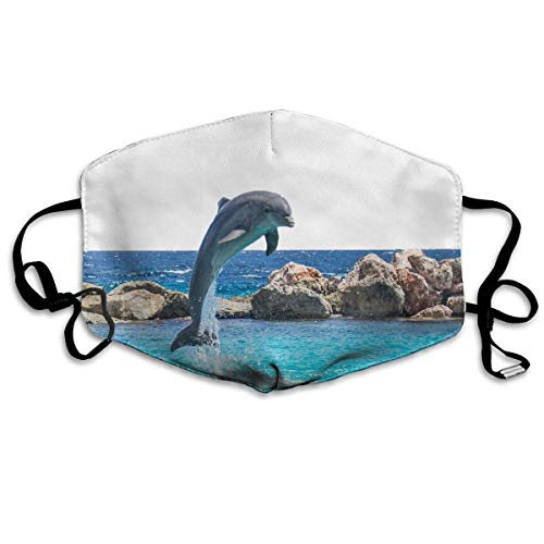 Dolphin Fish Custom Mouth Mask Anti-Dust Flu Warm Face Mask -