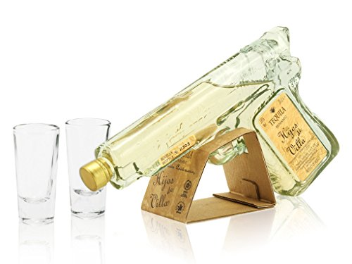 Hijos de Villa Reposado Pistol Gun 20cl & Shot Glass Miniature Gift Set Test