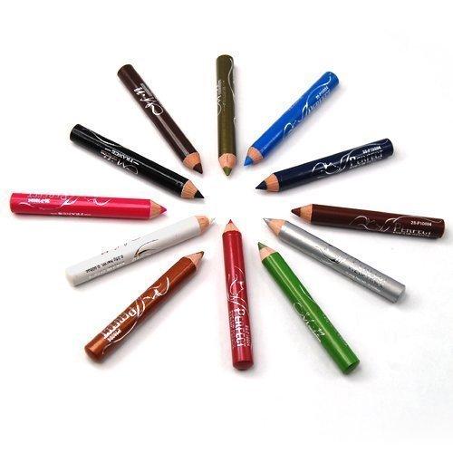 Accessotech 12 x Colori Mini Eyeliner Occhio Fodera Di Matite Impermeabile Ombretti Trucco Set
