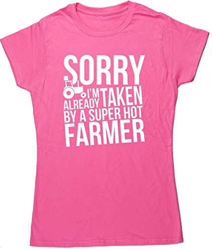 hippowarehouse-sorry-im-already-taken-by-a-super-hot-farmer-womens-fitted-short-sleeve-t-shirt