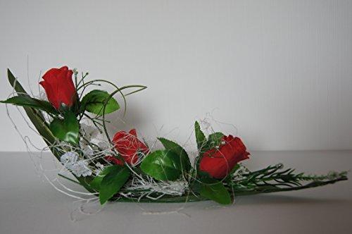 tatjana-land-deko Tischdekoration Tischdeko Hochzeit Deko Kommunion Taufe Verlobung Rosen K04 (Rot)