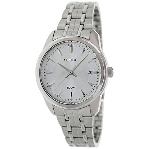Seiko 3-Hand con fecha acero inoxidable reloj para hombres # SGEG01P1(Reacondicionado Certificado)
