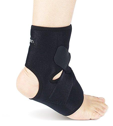 Sostegno Caviglia & Tutore Protezione Tendine di Achille │ Cavigliera regolabile misura │ Neoprene Traspirante Tutore Caviglia Protegge da Tendinite by Astorn