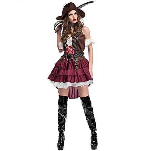 Einzigartig Paare Kostüm - ASDF Halloween Kostüme Paare Piratenanzüge für Männer und Frauen