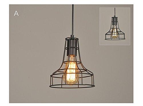 Gabbia di metallo vintage industriale edison loft bar lampada da