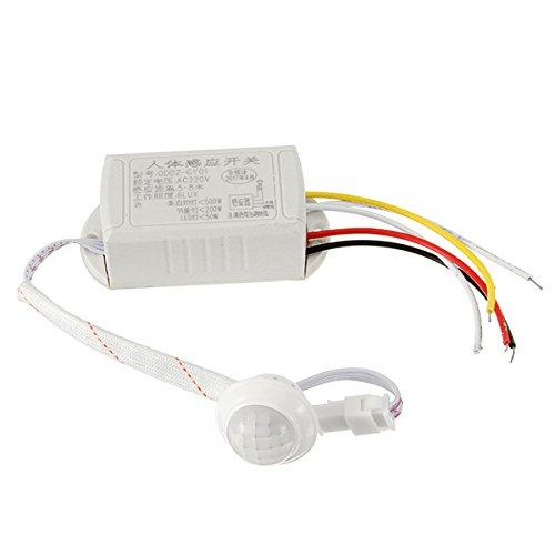 ILS - PIR Infrarot-Körper-Sensor Intelligent Light Motion-Sensing-Schalter für LED-Licht AC220V