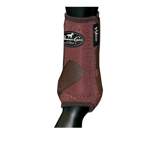 Professionals choice equine sports medicine ventech elite front leg boot, pair, donna, vefm-cho, chocolate brown, m