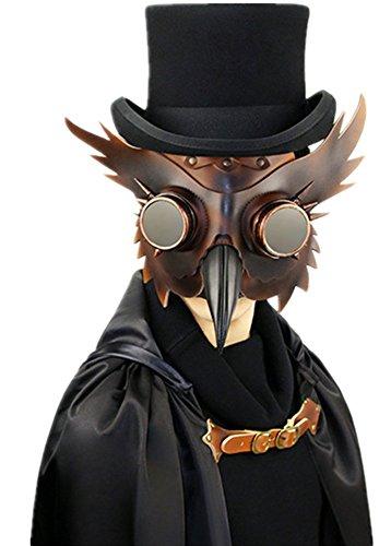 Shu li Damen und Herren Fashion Steampunk Pest Schnabel Maske Halloween Bar Requisiten