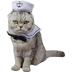 zuckerti Original Nuevo Interesante creativo Sailor Costume Ropa para disfraz Días festivos Cosplay Performance Cumpleaños Halloween Navidad sintética para cachorros de perro y gato gatos Conejo kaninchem Animales Pequeños