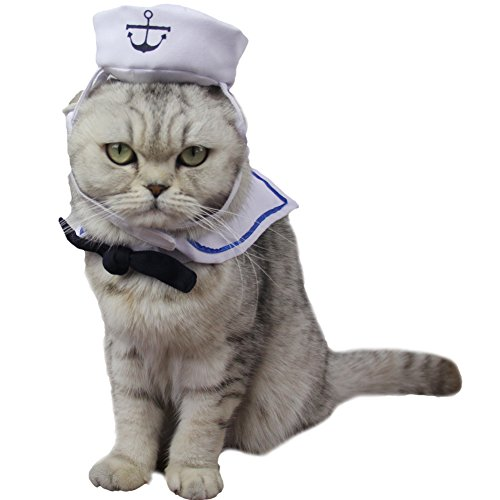 ZuckerTi Original Neu interessant kreativ Sailor Costume Kleidung für Kostüm Feiertage Cosplay Performance Geburtstag Halloween Weihnachten Kunst für Hund Welpen Katze Katzen Hase Kaninchem Kleintiere
