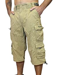 Jet Lag Short 007 B kurze 3/4 Hose Bermuda Shorts in olive beige schwarz Jeans blau indigo