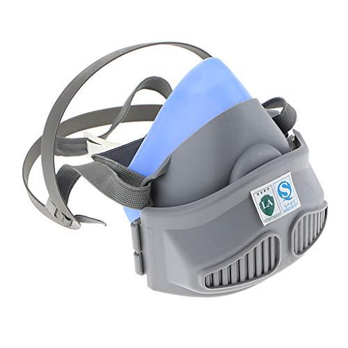 F Fityle Halbmasken Atemschutzmaske Zwei Filterpatronen, zwei Schutz Gegen Gas