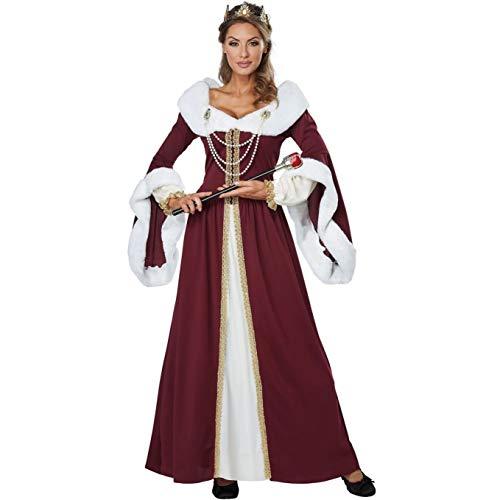 tisches Mann-zu-Mann-Paar-Bühnenkostüm Kostüm der Weihnachtskönigin (Color : Female, Size : XL) ()