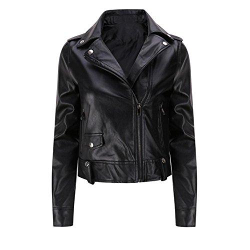 Kleidung Damen DAY.LIN Winter Warm Frau Kurzer Mantel Lederjacke Parka Tops Mantel Outwear (M)
