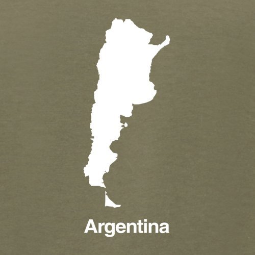 Argentina / Argentinien Silhouette - Herren T-Shirt - 13 Farben Khaki