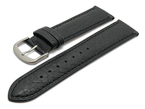 Meyhofer Uhrenarmband Erfurt 18mm schwarz Leder fein genarbt Titanschliee MyCrkslb512/18mm/schwarz/TiT