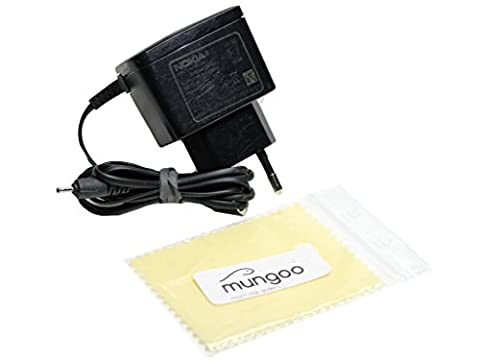 Original Nokia AC-3E Netzteil Ladegerät Ladekabel Kabel Stromkabel Netzladegerät für Nokia Asha 501 DS, Asha 502 DS, C1-00, C1-01, C1-02, C2-00, C2-01, C2-02, C2-03, C2-05 + Gratis mungoo® Displayputztuch