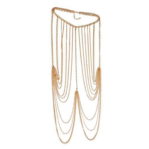 WESEEDOO Chest Chain Body Chains für Frauen Oberschenkelkette Harness Kette Gold und Silberkette Zubehör ()
