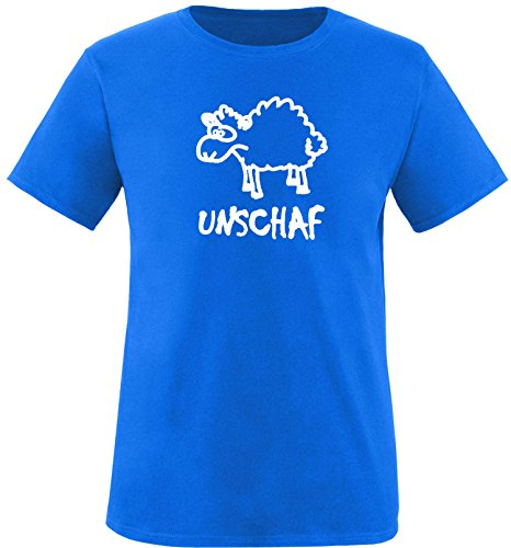 Luckja Unschaf Herren Rundhals T-Shirt Royal/Weiss