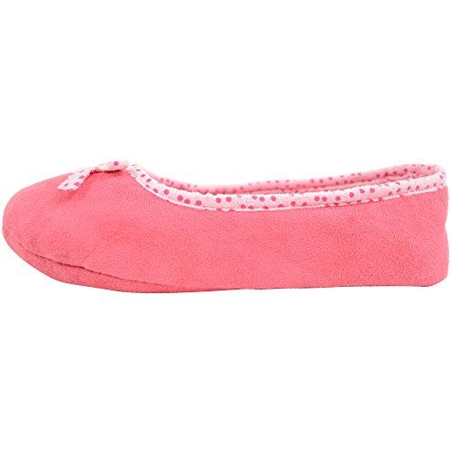 Damenschuhe/Slippers mit unverstärkter Sohle Pink
