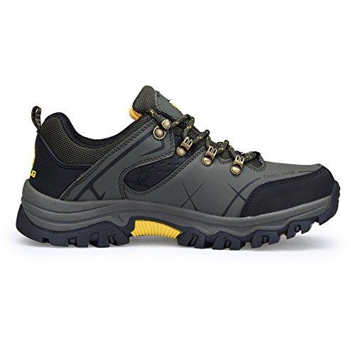 Gomnear Scarpe da Trekking Uomo Arrampicata Impermeabile Hiking Boots Verde scuro